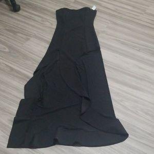 Long high slit dress